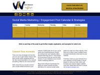 Get our social media marketing & engagement post strategies calendar