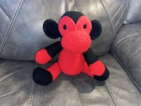 crochet black and red monkey
